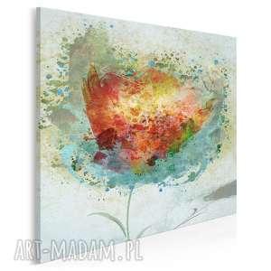 obraz na płótnie - artystyczny kwiat w kwadracie 80x80 cm (57302)