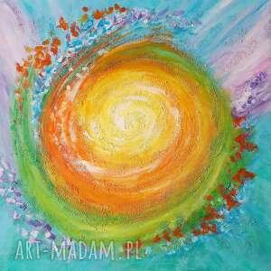 obraz - eskalacja 2 akryl na płótnie, obraz, ezoteryczny, mandala