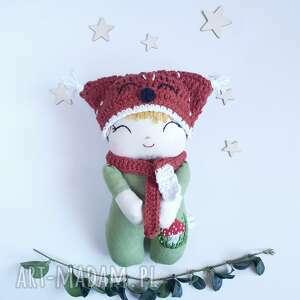 ręcznie robione lalki lalka leśny skrzat -muchomorek