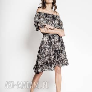 sukienki riri - jedwabna hiszpanka, sukienka, jedwab, czarna