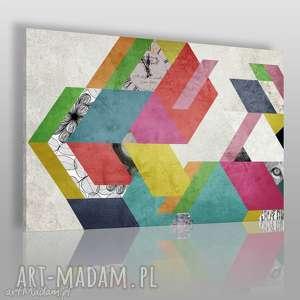 obraz na płótnie - kolory kształty 120x80 cm 48001, kolorowy