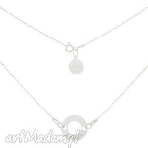 srebrny naszyjnik z kryształową karmą swarovski elements, swarovski, ring, karma