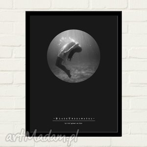 hand-made plakaty black underwater plakat 30x40