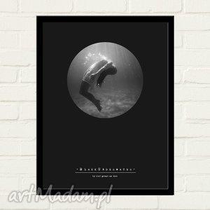 hand-made plakaty black underwater plakat 30x40