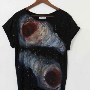 bluzki tunika galaxy1 od zokozola, tunika, asymetryczna, bluzka, galaxy, kosmos
