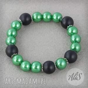 Czarno zielona - Ręcznie wykonane