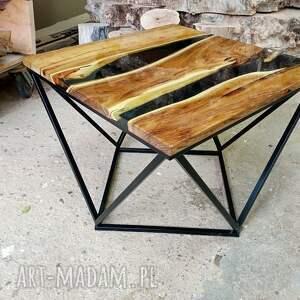 stolik kawowy zalany żywicą 7, akacja, żywica, stolik, połysk, drewno, lakier