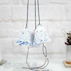 ceramiczny dzwonek świąteczny - modern, na choinkę, ozdoby choinkowe