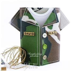 jelonkaa militarna koszula - kartka, militaria, koszula, osiemnastka, pudełko