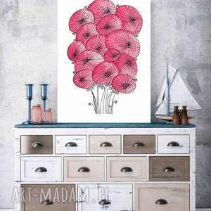 maki a3, plakat, sztuka, obraz, maki, kwiaty, akwarela