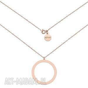 naszyjnik z różowego złota z dużym kołem sotho