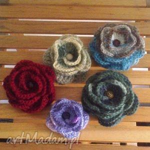 kwiat bordo, kwiat, szal, chusta, broszka, zapinka, przypinka