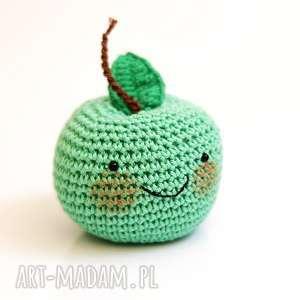 Jabłuszko maskotki cat a needle maskotka, zabawka, jabłko