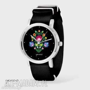 Prezent Zegarek, bransoletka - Czarny folkowy czarny, nato, zegarek,