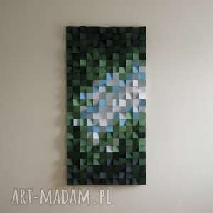 Mozaika drewniana, Obraz drewniany 3D Las , wallart, mozaika, obraz, 3d, las,