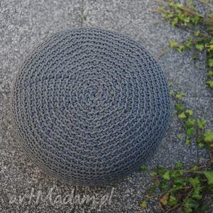 ręcznie zrobione pufy puf grafit