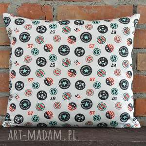 Prezent Poduszka dekoracyjna z motywem 40x45cm, poszewka, dekoracja, prezent, bawełna