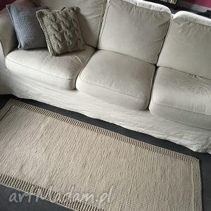 dywan ze sznurka baweŁnianego beŻowy 70x170 cm - dywan, chodnik, sznurek, handmade