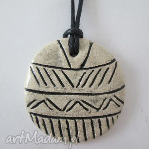 aztecki wisiorek, ceramiczny, wisior, etno, etniczny