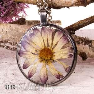 naszyjnik z suszonymi kwiatami terrarium 5,5cm tiffany 1112