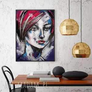 Dagmara - rysunek pastelami suchymi, rysunek, portret, unikat, radzka, pastele