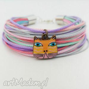 bransoletka etno cat - ,kot,kotek,cat,meow,bransoletka,kolorowa,