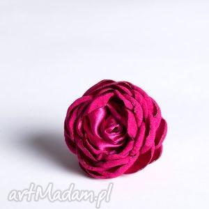 flowering - kwiatowy pierścionek amarant fr02, pierścionek, kwiatowy, satyna