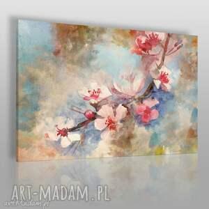obraz na płótnie - kwiat wiŚnia delikatny - 120x80 cm 50801 - kwiat
