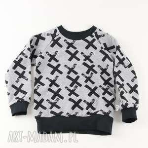 Bluza w krzyżyki, bluza, klasyczna, czarna, szara, dresowa, dzianinowa