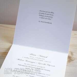 Zaproszenie na Pierwszą Komunię Świętą - HC 03 - Handmade