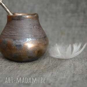 Unikatowe matero z gliny kubki ziemia zu matero, yerba mate