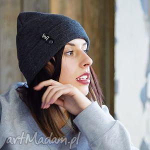 ręcznie wykonane czapki czapka zimowa unisex szara