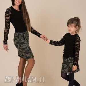 wyjątkowy prezent, komplet bluzek sofia czarne, komplet, mamaicórka, bluzki, koronka