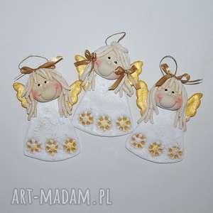 ręcznie zrobione pomysł na prezenty święta takie trzy aniołki....