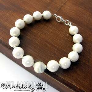 mutiara i - perły seashell, srebro - perły, seashell, srebro, bransoletka