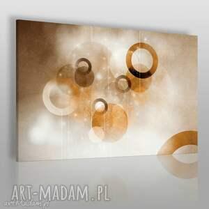 obraz na płótnie - koła abstrakcja brązy 120x80 cm 43902, koła, nowoczesny