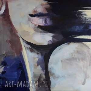święta, purple 100x70, obraz twarz kobiety, duży twarz, do salonu