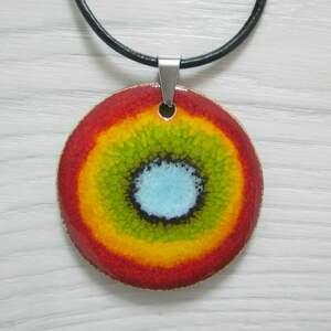 wyjątkowy prezent, energetyczny naszyjnik, kolorowy, ceramiczny, naszyjnik