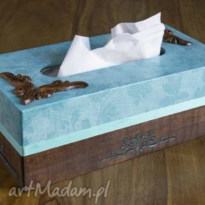 chustecznik z tasiemką, chustecznik, pudełko, dekoracja, ornament, prezent, chic