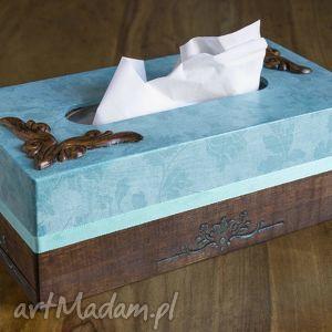 handmade pudełka chustecznik z tasiemką