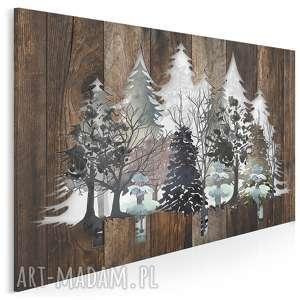 Obraz na płótnie - DREWNO DESKI NATURA DRZEWA 120x80 cm (82201), drewno, deski