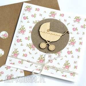 kartka na chrzciny, narodziny, urodziny :: PINK, urodziny, dziecko