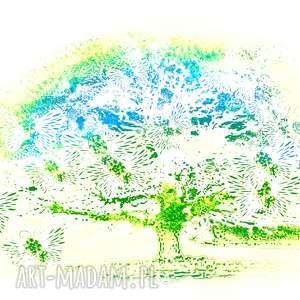 Grafika obraz na płótnie tęcza, 80 x 50, elegancki minimalizm