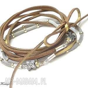 Choker silver gold - naszyjnik naszyjniki katia i krokodyl