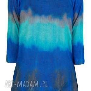 feltrisimi letni sweterek z nadrukiem s/m,l/xl, ombre, print, bluzka, drukowana