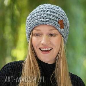 hand-made czapki this is it szarość poranka