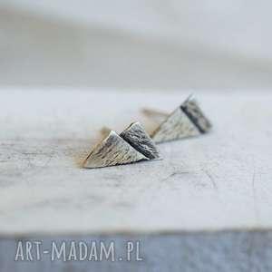 Prezent Z miłości do gór, kolczyki, srebro, minimalistyczne, prezent, miłośnik-gór