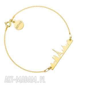 Złota bransoletka Paryż - ,bransoletka,paryż,francja,miasto,city,widok,