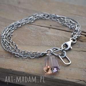 Łańcuszki z ametrynem, srebro, łańcuszki, zawieszka, minerały, ametryn, labradoryt