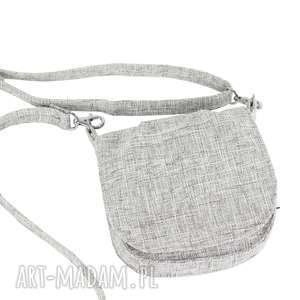 handmade mini torebka mana mana# szaro-biała